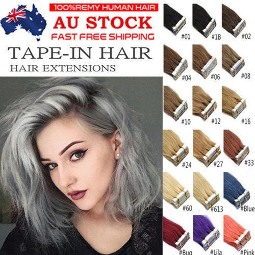 7A 14''-22'' Premier Tape in 100% Remy Real Human Hair Extension 20pcs/40pcs AU