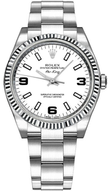 New Rolex Oyster Perpetual Air-King 114234 White Dial Watch Discount Sale