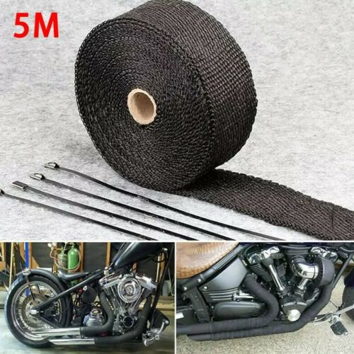 Exhaust Heat Wrap Glassfiber Manifold Tape Header Pipe Shield Thermal Protection