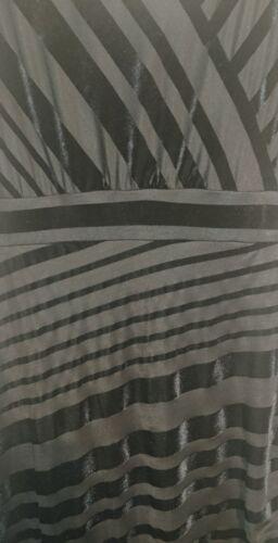 Helena Monsoon longue Uk velours rayures Bnwt 12 Noir Robe Doublé en à UddTnwrZxq