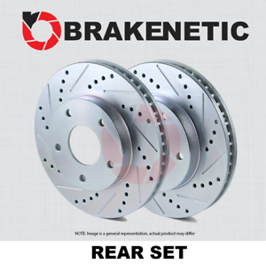 BRAKENETIC SPORT Drilled Slotted Brake Disc Rotors BNS42088.DS REAR SET