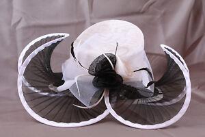 Chapeau Mariage Panier Fleur Rose Noir Rouge Ivoire Blanc Neuf