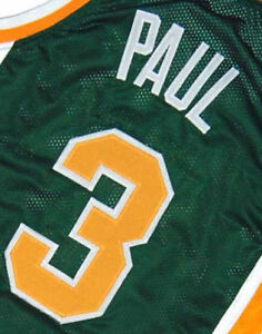 72c1b1a48 CHRIS PAUL WEST FORSYTH HIGH SCHOOL JERSEY Green NEW SEWN ANY SIZE ...