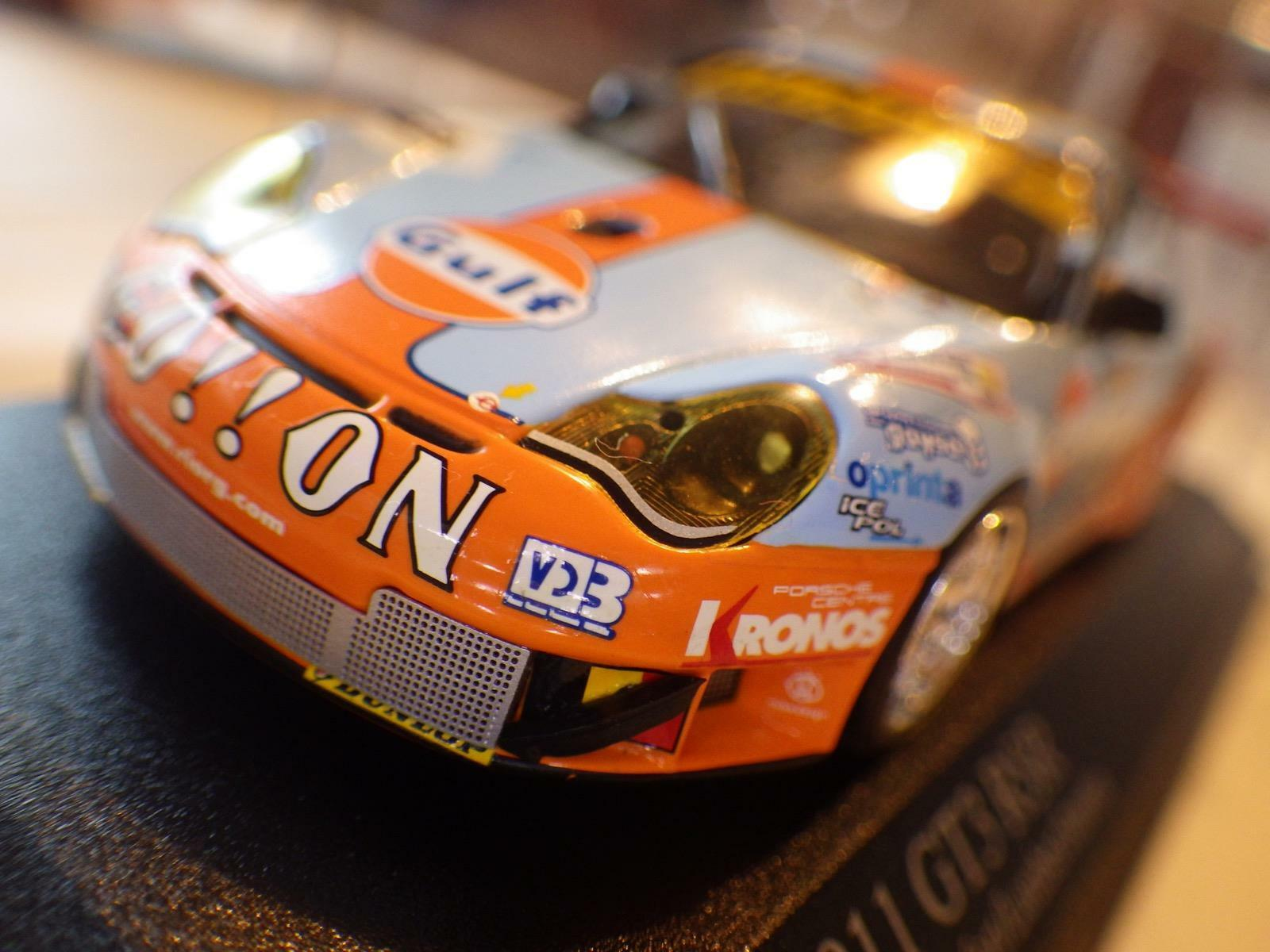 Paul's Model Art Light blu/arancia Porsche 911 GT3 RSR Le Mans 2006 Diecast 1:43