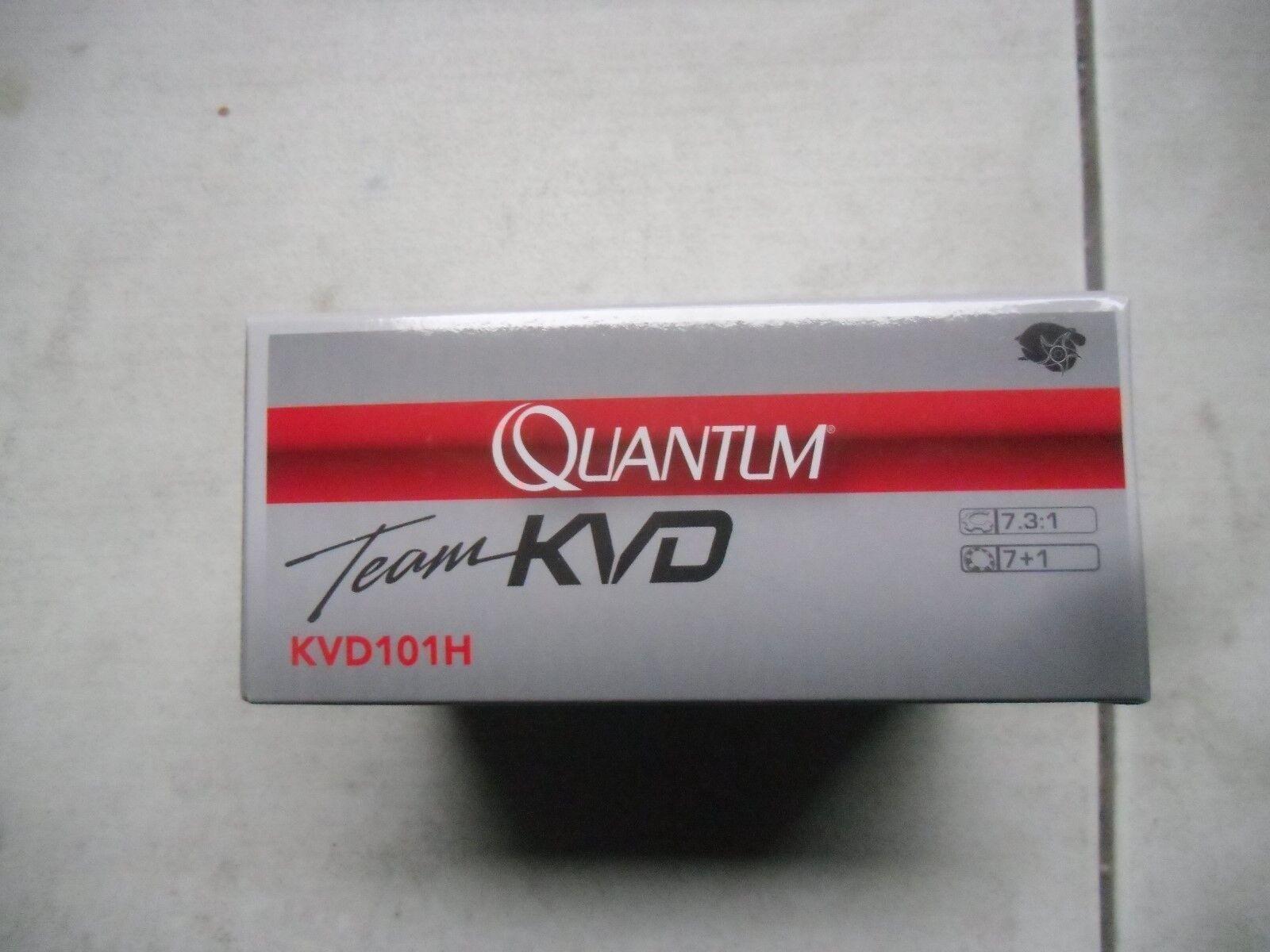 QUANTUM TEAM KVD KVD101H 7.3:1 8 BEARING LEFT HAND BAITCAST REEL BOXED NEW