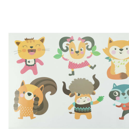 Funny animal number alphabet wall sticker kids room home decor wall decal