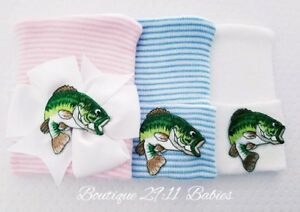 1685200662e5d Details about New Fishing Newborn Hospital Hats, Baby Girl Fishing, Baby  Boy Fishing or White