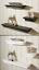 Set-di-3-di-Crescent-Bordo-Design-Muro-Storage-contemporanea-Nero-amp-Bianco-Scaffale