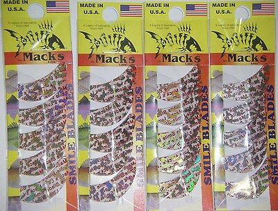 MACK/'S MACKS SMILE BLADES LURE PARTS 4 PACKS TROLLING BLADES 1.5 65327 AMBER SPK