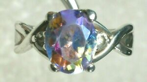 in Vintage Style 925 Silver 12x10 Purple Passion Mystic Topaz