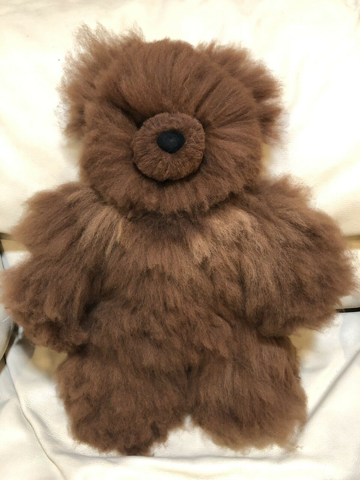 Brand New Soft Baby Alpaca Teddy Bear Handmade In Peru 18 Inches Tall