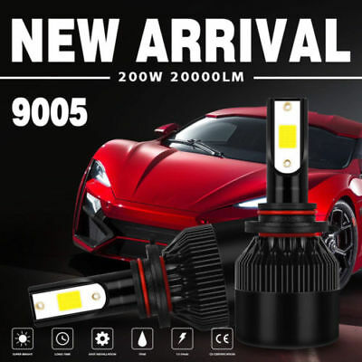 4 Sides 200W 20000LM Car LED Headlights Bulbs Kits 9005 HB3 H10 6000K CTQ