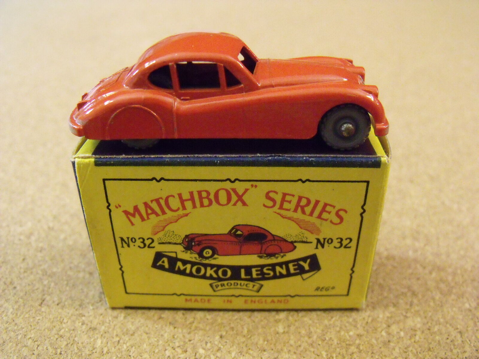 Jahrgang lesney matchbox   jaguar xk 140 original box 32