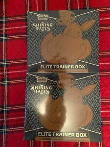 2021 Pokemon Shining Fates ETB Elite Trainer Box lot (2 boxes) factory sealed