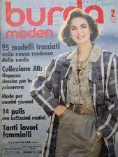 BURDA Moden n°2 1986  - con cartamodelli  [M10]