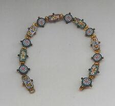 Fine Vintage Antique Floral Micro Mosaic Bracelet