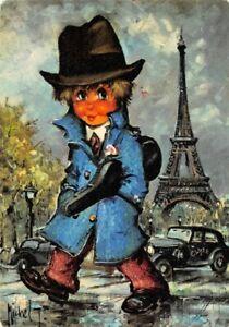 Carte-Postale-Poulbot-Gamin-de-Paris-Clyde-Michel-Thomas