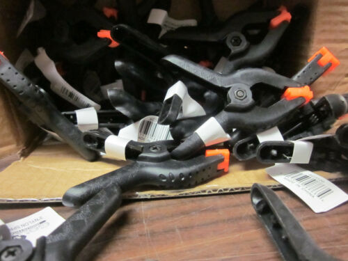 """LOT OF ~30~ G INDUSTRIAL 3/"""" NYLON SPRING CLAMPS SC3120 CLIP FLEX PADS 1-5//8/"""" JAW"""