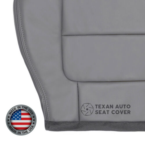 2002 Ford F150 Lariat Crew Cab 2WD 4X4 Driver Bottom Leather Seat Cover Gray