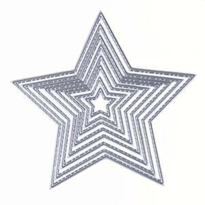 8X-Basic-Stars-Sizzix-Big-Shot-Die-Cuts-Metal-Stanzen-Schneiden-stirbt