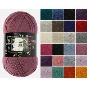 King-Cole-Fashion-Aran-Knitting-Yarn-Acrylic-100g-Wool
