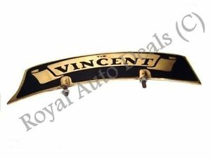 NEW-BRASS-FRONT-MUDGUARD-NUMBER-PLATE-FOR-VINTAGE-VINCENT-MOTORCYCLE
