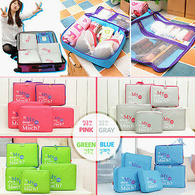 4 Color  Travel Pouch Luggage Packing Organizer Bag Case For Clothing Storage