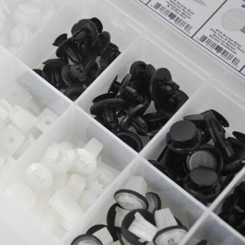146Pcs Auto Car Body Plastic Push Pin Rivet Fasteners Trim Panel Moulding Clips