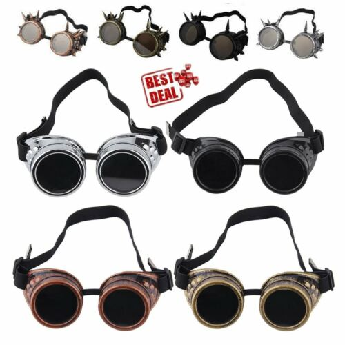 Cyber Goggles Smpunk Glasses Vintage Welding Punk Gothic Victorian LOT BC