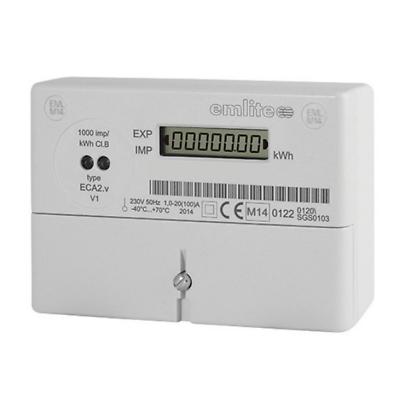 Emlite ECA2 Single Phase 100A 230V kWh Electric Pulse Digital Generation Meter