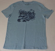 NWT Lucky Brand  S/S Blue Graphic T-Shirt Whiskey Rock Saloon    Medium     L297