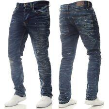 d3adfd2264 Eto Designer New Mens Tapered Fit Jeans Ripped Distressed Acid Wash Denim  Pants