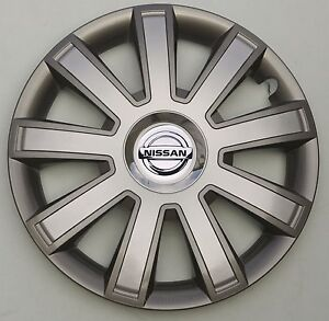 """Brand New Silver/Grey  14"""" wheel trims to fit  NISSAN Micra"""