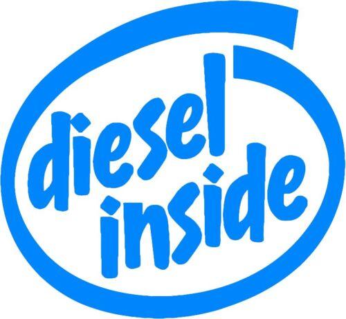Diesel Inside Parody Vinyl Decal Sticker Window Glass Funny Humor