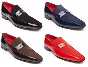 Retro Vintage Monzese Mens Shoes Faux Shiny Leather Moccasin 1940 Party Shoes