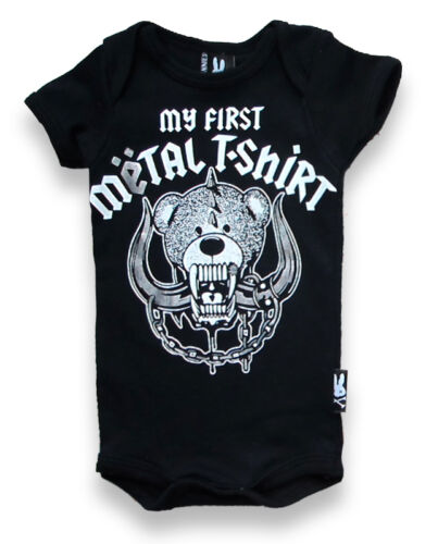 funny//cute//unisex Seis Conejitos rompers//metal//skull rock//skeleton//punk bebé crece