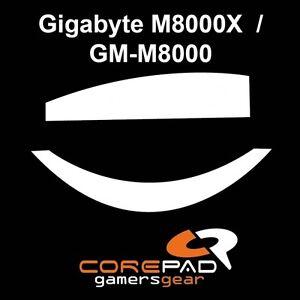 Corepad-Skatez-Gigabyte-M8000X-GM-M8000-Ersatz-PTFE-Teflon-Mausfuesse
