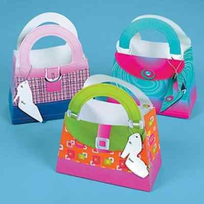NEW GIRLY GIRL HANDBAG GIFT TREAT BAGS (12)