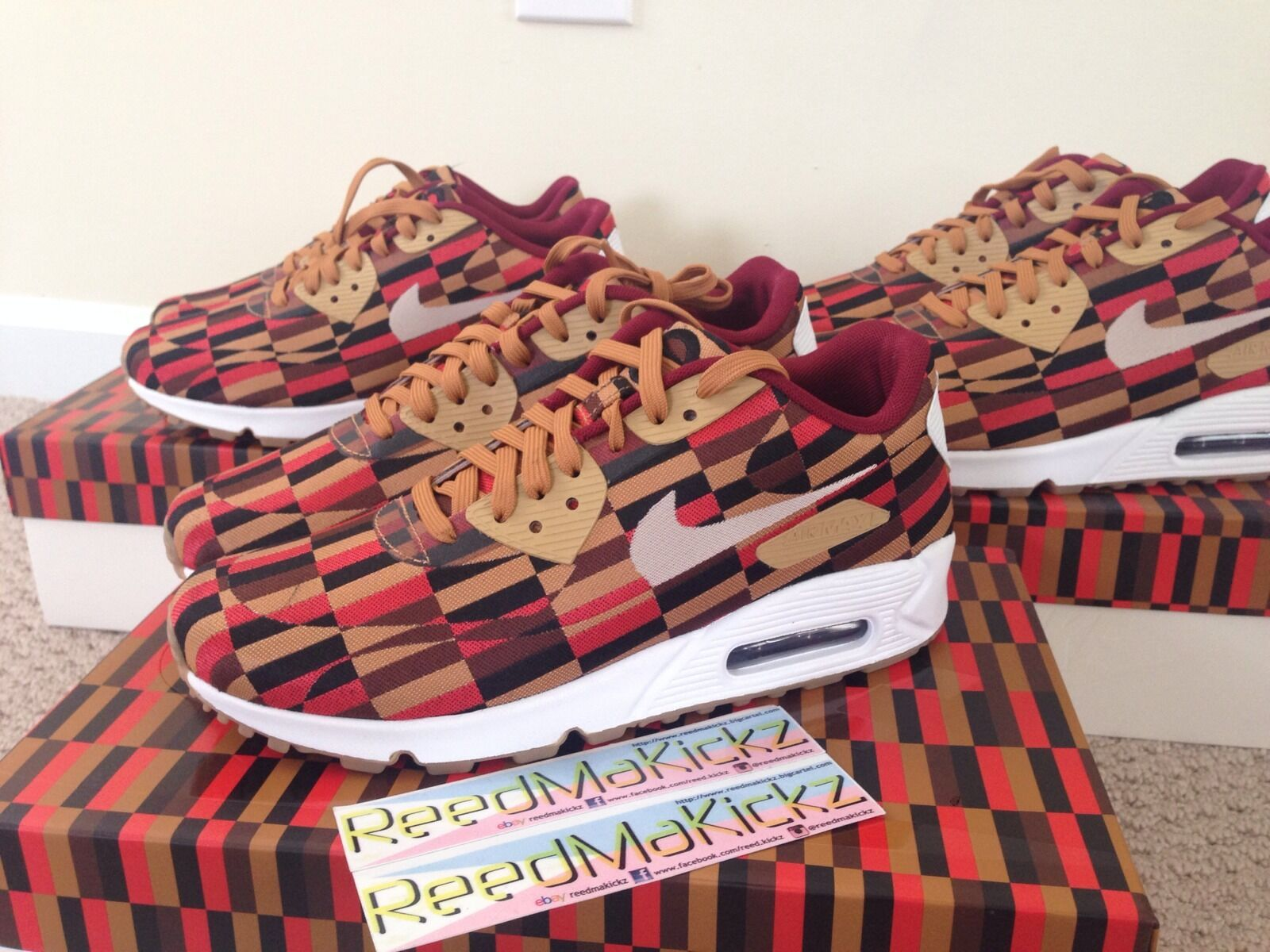 Nike Air Max 90 Lux jacuard SP x Roundel by London Underground mens size 6.5 us Casual wild