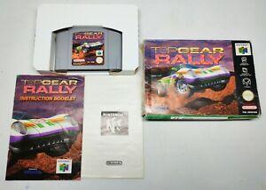 Top GEAR RALLY NINTENDO N64 Juego en Caja Completa (probado y funcionando) PAL