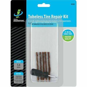 TIRE REPAIR KIT TUBELESS RUBBER CEMENT 3 PLUGS CAR TIRE PLUG KIT 6 PC FLAT TIRE
