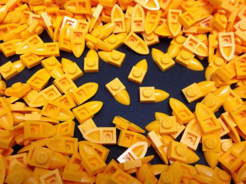 49668 modificati GIALLO LEGO 20 per ordine PEZZI ARANCIONE 1x2 DENTI PIASTRA