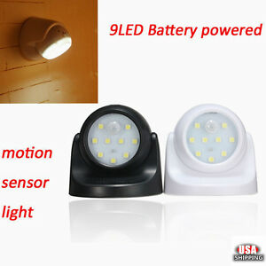 9-LED-White-PIR-Motion-Activated-Night-Light-Sensor-Battery-Outdoor-Wall-Lamp