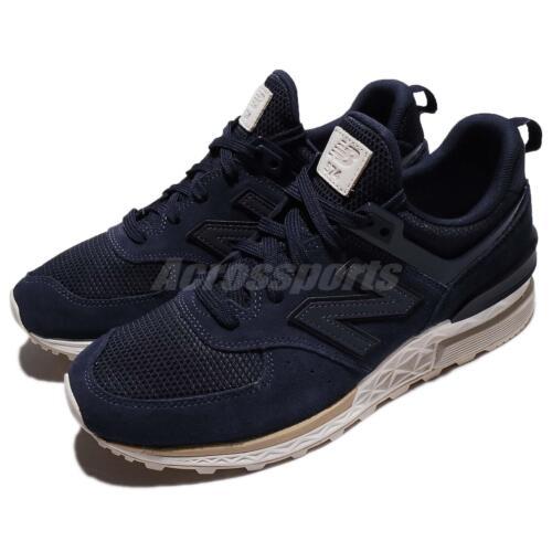Men bianca D Sneakers Running Navy New scarpe Balance Blue Ms574fsld Ms574fsl 574 Yx0w1