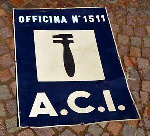 ANTICA-TARGA-LATTA-ACI-SOCCORSO-STRADALE-OFFICINA-A-C-I-PUBBLICITA-MECCANICO