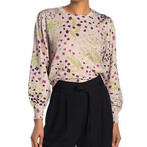 Joie-Womens-Verna-Floral-Crew-Neck-Cashmere-Blend-Sweater-NWT-298