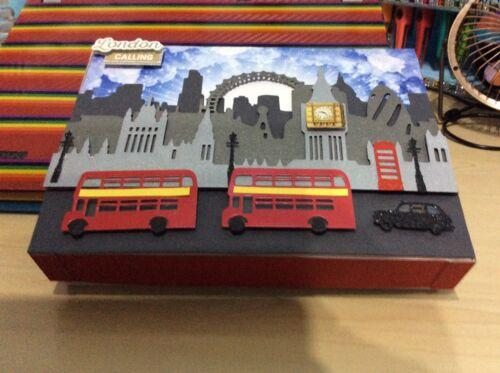 Xcut build a scene die set LONDON Eye  Bus  Taxi  Houses of Parliament  Big Ben