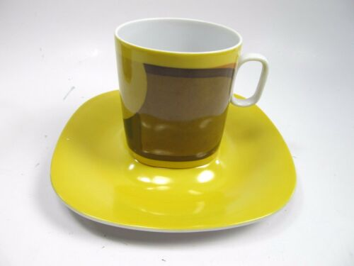 4 Block Langenthal Transition  Evolution China 1970 Abstract  Cup and Saucer Set