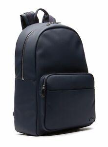 LACOSTE Men's Classic Backpack Rucksack Freizeitrucksack Tasche Peacoat Blau Neu