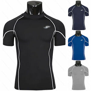 Mens Gym Fitness Running Sports Body Compression Wear Base Layer Top Under Shirt